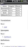 Screenshot of Norwegian-German Dictionary