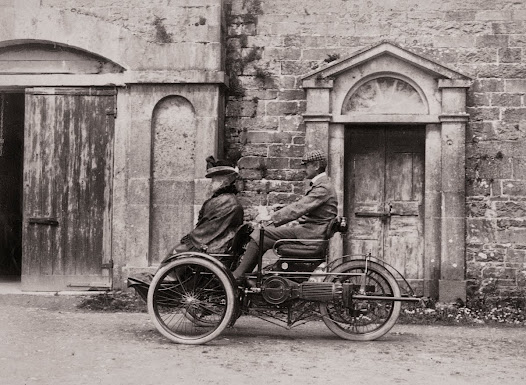 An early motor car, Ross House, Ross, Co. Galway, 1898-99. (ALB 186).