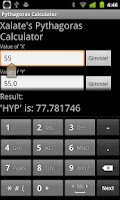 Screenshot of Pythagoras Calculator