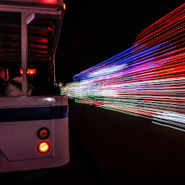 A Delightful Tram Ride by Ernesto Sanchez - Abstract Light Painting ( tram lights )