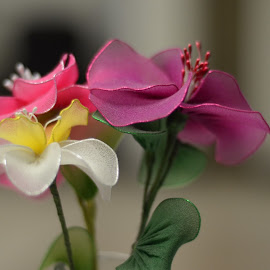 Silk Flowers  by Lorraine D.  Heaney - Artistic Objects Still Life