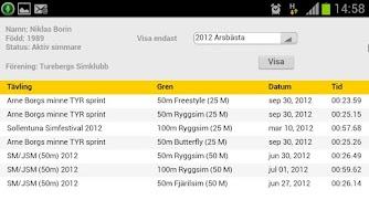 Screenshot of LiveTiming