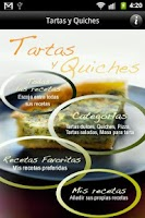 Screenshot of iCocinar Tartas y Quiches