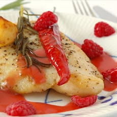 Pan Seared Fish With Raspberry Vinaigrette