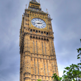 Elizabeth Tower - (Big Ben) London by Skye Ryan-Evans - Buildings & Architecture Public & Historical ( clock tower, elizabeth tower, westminster palace, historic tower, big ben, famous places, london icon )