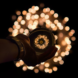 Have yourself a Merry Little Christmas! by Marianna Armata - Public Holidays Christmas ( hand, ligths, ball, christmas, sphere, wreath, crystal, marianna armata )