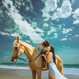 Kissing is the best way to describe Love by Mike Tan - Wedding Bride & Groom ( bali, weddings, indonesia, photographer, penang, malaysia )