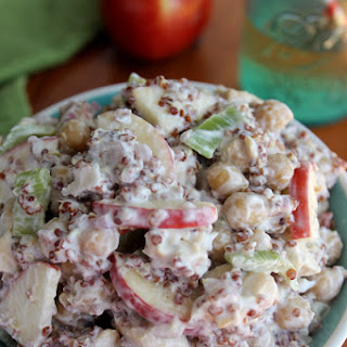 Apple Chicken Salad with Garbanzo Beans and Quinoa