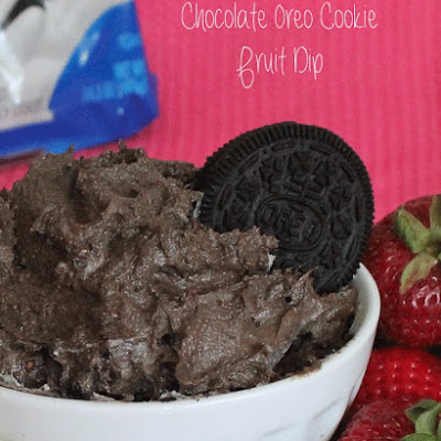Chocolate Oreo Cookie Fruit Dip