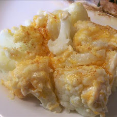 Cauliflower with Cheese Topping
