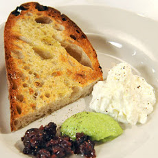 Burrata with Broccoli Rabe Pesto and Fig-Onion Jam
