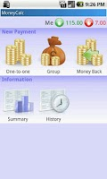 Screenshot of MoneyCalc