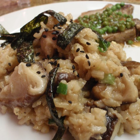 Fried Brown Rice With Shiitake Mushrooms