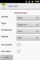 Screenshot of VegPeople - Famous Vegetarian