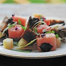 Zak Pelaccio's Crispy Pork and Watermelon Salad
