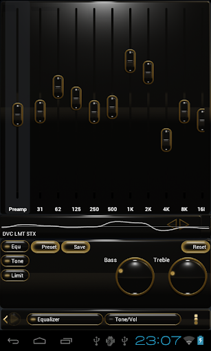 Poweramp skin black gold - screenshot