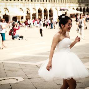 Free bride by Camelia Cami - Wedding Bride ( wedding, venice, white, bride, city,  )