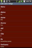 Screenshot of Lets Learn Telugu