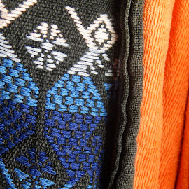 by Marijan Alaniz - Artistic Objects Clothing & Accessories ( blue, orange. color )