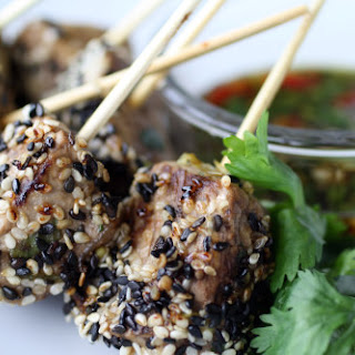 Seared Sesame Tenderloin Skewers
