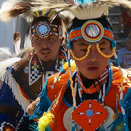 Pow Wow Post Falls by Barbara Brock - News & Events US Events ( native american teenagers are dancing a traditional dance at the pow wow today. )