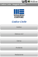 Screenshot of Codice Civile