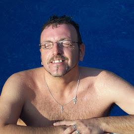 Pool and sun by Linda Steiff - People Portraits of Men ( pool, swim, sunshine, men, sun,  )