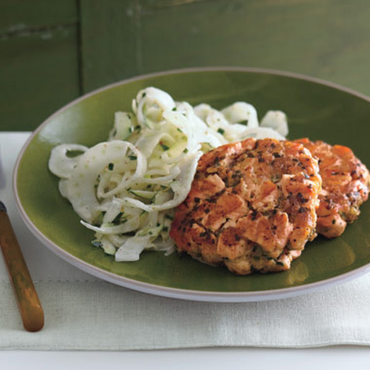 Summer Salmon Cakes With Zucchini Fennel Slaw Recipes ...