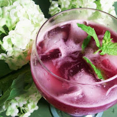 Blueberry Lemonade With Lemon Verbena and Ginger