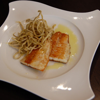Sea Bass with Crunchy Eel