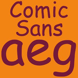 Cover art Comic Sans Pro FlipFont