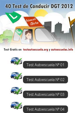 TEST DGT AUTOESCUELAS 2012 PRE