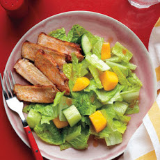 Cucumber and Mango Salad with Chili-Spiced Pork