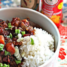 Jamaican Beef Stew with Rice
