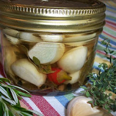 Quick Pickled Garlic with Mediterranean Flavors