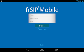 Screenshot of frSIP Mobile