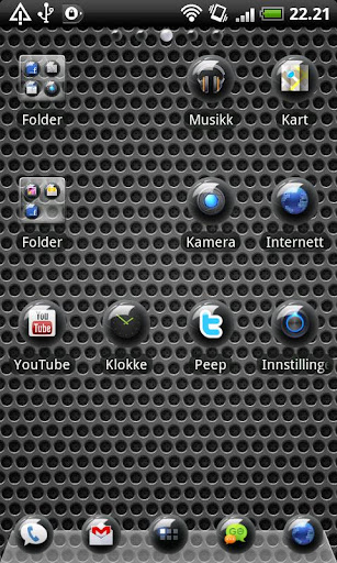 Sphere Black GO Launcher Theme