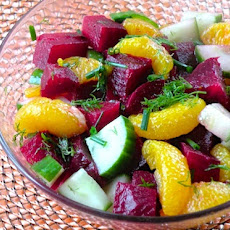 Beet, Cucumber, and Orange Salad