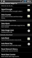 Screenshot of Cellular Network Widget Pro