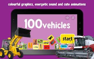 Screenshot of 100 Vehicles Words for Babies