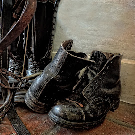 Boots by Heather Ryder - Artistic Objects Clothing & Accessories ( old, footwear, museum, tackle, boots )
