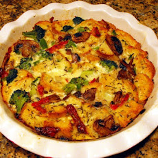 Vegetable and Cheese Strata