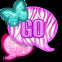 GO SMS|GlitterPastelZebra icon