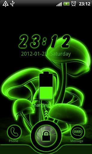 Green Neon GO Locker theme