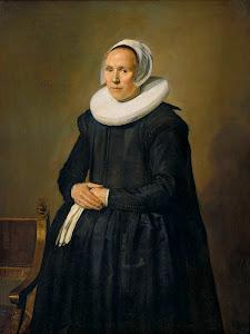 RIJKS: Frans Hals: Portrait of Feyntje van Steenkiste 1635