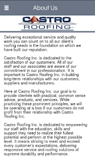 Castro Roofing Inc. - screenshot