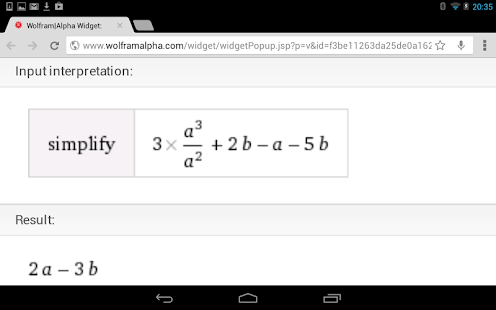 Simplify Algebra Calculator - screenshot