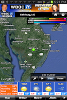 Screenshot of WBOC WX