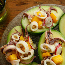 Curried Calamari Ceviche with Mango and Avocado Recipe