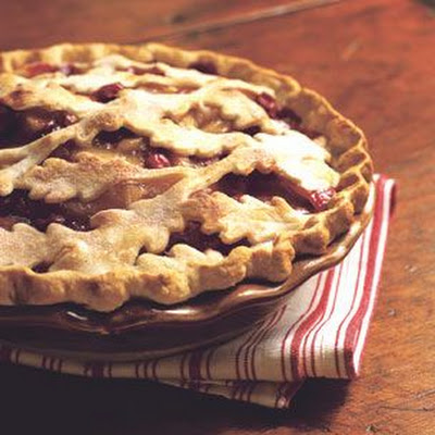 Apple-Ginger-Cranberry Pie